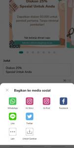 Anda bisa share ke sosial media toko online anda